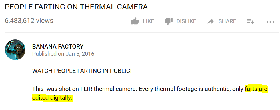 Thermal Fart Fake Video